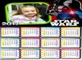 Calendário Star Wars 2017 FotoMoldura