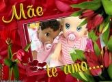 Mãe Te Amo Moldura Dia das Mães