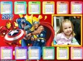 Calendário Homem de Ferro, Capitão América e Tor 2017