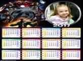 Calendário Os Vingadores Super Heróis da Marvel 2017