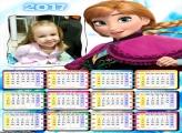 Calendário Princesa Ana FotoMoldura 2017