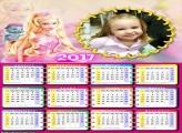Calendário Barbie Girl 2017