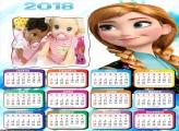 Calendário Anna Princesa Frozen 2018
