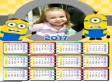 Calendário Minions FotoMoldura 2017