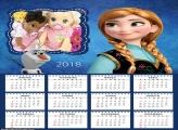 Calendário Anna Frozen 2018