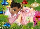 No Meio da Árvore de Natal FotoMoldura