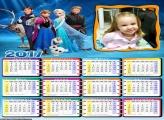 Calendário Frozen Personagens do Filme 2017