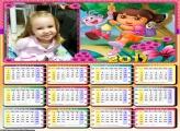 Calendário Desenho Dora 2017