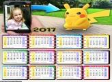 Calendário Pokémon Go FotoMoldura 2017