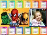 Calendário Hulk, Capitão América e Wolverine 2017