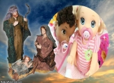 Imagens de José, Maria e Menino Jesus