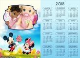 Calendário Mickey e Minnie 2018