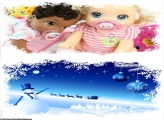 Natal Lindo Todo Azulado FotoMoldura