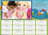 Calendário Galinha Pintadinha 2018