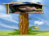 FotoMoldura Placa na Casa de Pássaro