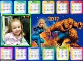 Calendário Quarteto Fantástico 2017