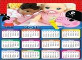 Calendário George e Peppa Pig 2018