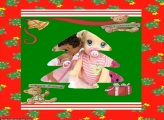 Moldura de Natal Cartão de Árvore