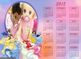Calendário Princesas Disney 2018