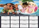 Calendário Moana 2018