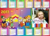Calendário Circo Patati Patatá Desenho 2017