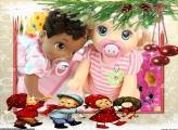 Crianças no Natal FotoMoldura