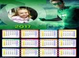 Calendário Boneco Lanterna Verde 2017