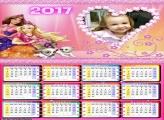 Calendário Barbie e Cachorrinhos 2017