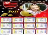 Calendário Flamengo Brasão FotoMoldura 2017