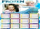 Calendário Frozen e seu Poder FotoMoldura 2017
