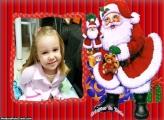 Desenho de Papai Noel Foto Moldura