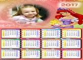 Calendário Princesa Ariel com Pérola 2017
