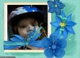 FotoMoldura Flores Azuis