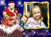 Foto Moldura Natal Simpsons