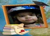 FotoMoldura Livros e Diploma