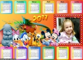 Calendário Disney Baby Horizontal 2017