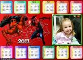 Calendário do Homem Aranha 2017