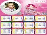 Calendário Princesa Ariel e Amigo Peixe 2017