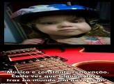 FotoMoldura Guitarra Vermelha Música