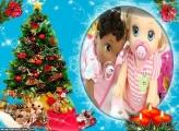 Árvore de Natal com Decoração FotoMoldura