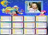 Calendário Disney Personagens Baby 2017