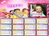 Calendário Princesas Amigas FotoMoldura 2017