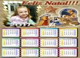 Calendário Feliz Natal Nascimento Menino Jesus 2017