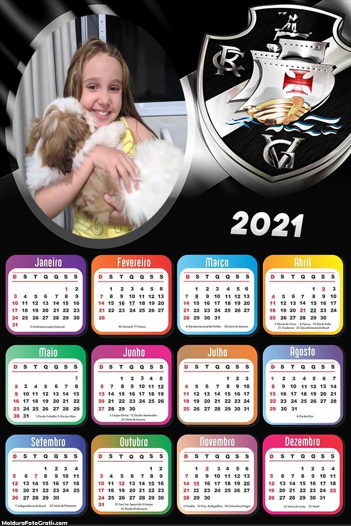 Calendário Vasco Time de Futebol 2021