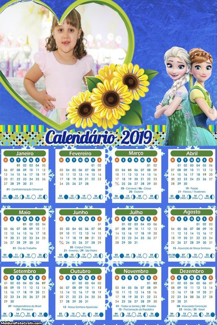 Calendário da Frozen 2019