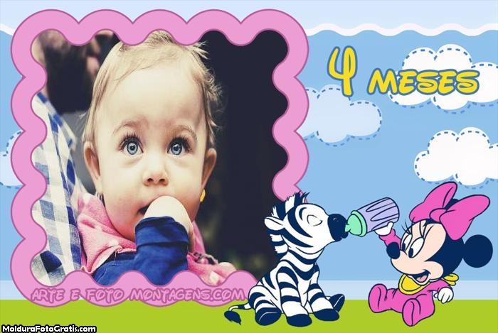 Minnie Baby 4 Meses Moldura