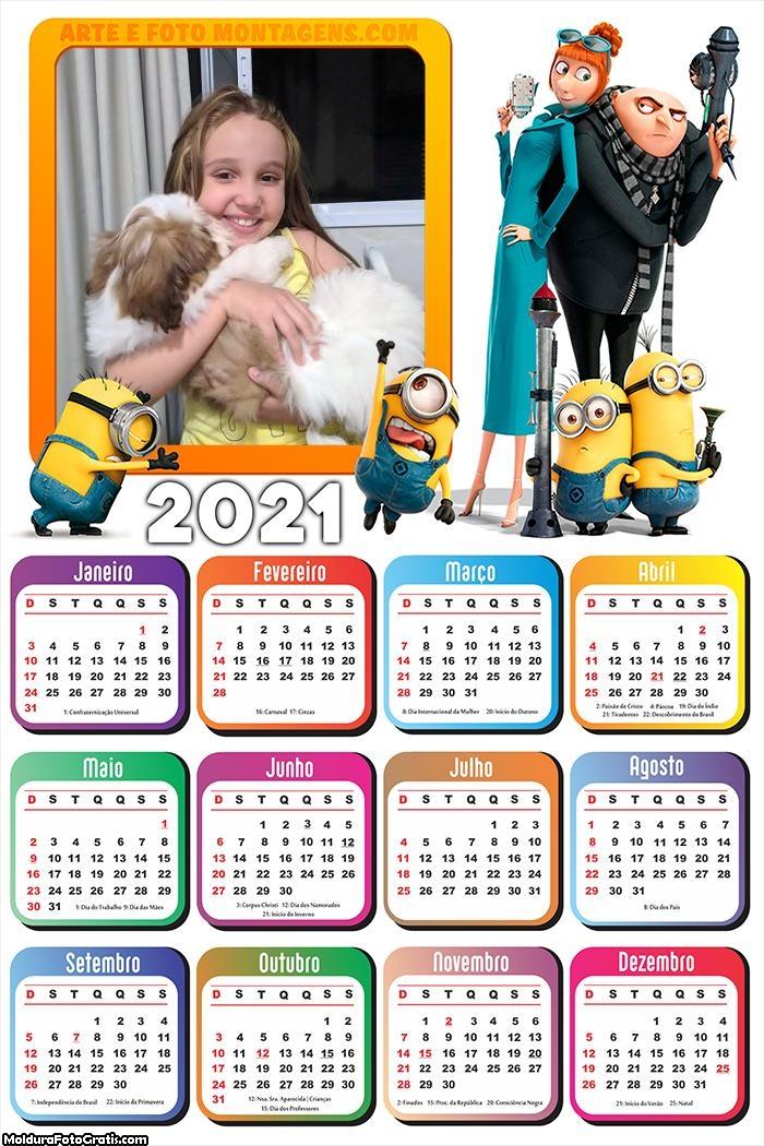 Calendário Meu Malvado Favorito 2021