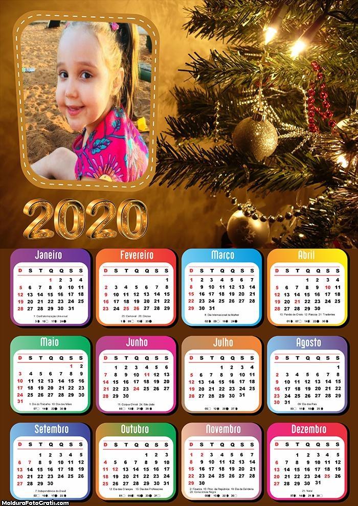 Calendário Luzes Natalina 2020