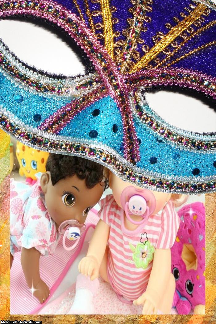 Máscara de Carnaval FotoMoldura