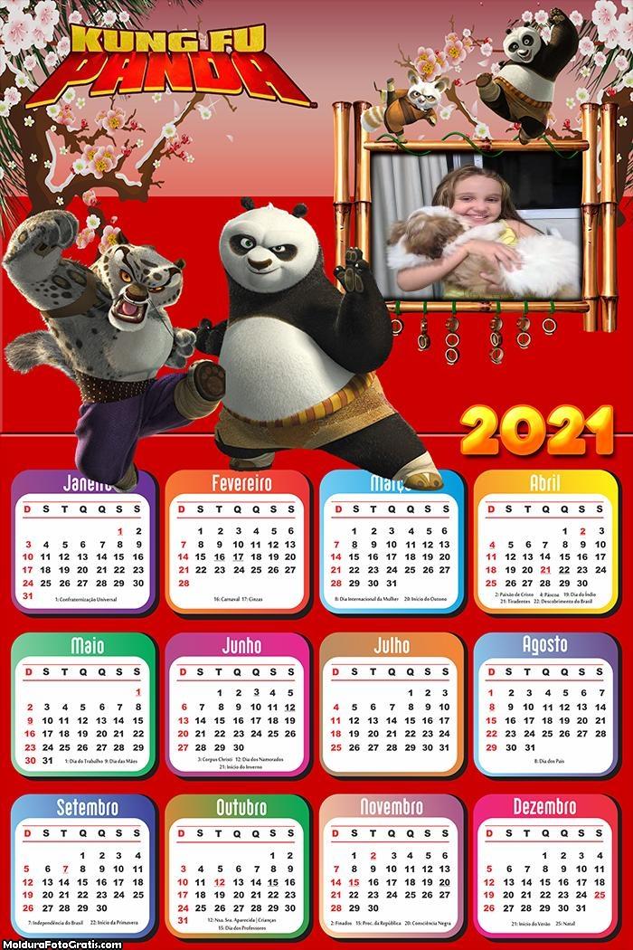 Calendário Kung Fu Panda 2021